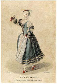 DANCER CAMARGO | Flickr - Photo Sharing! Historical Art, Historical Costume, Historical Clothing, Theatre Costumes, Ballet Costumes, Victorian Fancy Dress, Fancy Dress Ball, Rococo Fashion, Vintage Ballet
