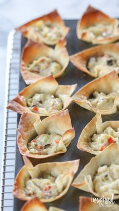 These are SO GOOD!! Artichoke Wonton Wrappers. Great for entertaining. They are so simple to make and look fancy too!