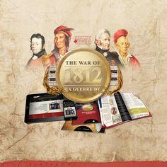Branding and print design for Historica-Dominion Institute's 1812 campaign http://historica-dominion.ca/1812/
