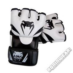 Venum Attack MMA Gloves Negro-Blanco