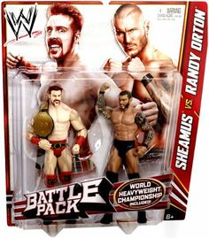 """WWE Series 21 Battle Pack: Sheamus vs. Randy Orton Figure, 2-Pack by Mattel. $19.99. Collect all your favorites WWE superstars. WWE Series #21 figure 2-pack in 6"""" Superstar Scale. Kids can recreate their favorite WWE rival or tag team matches. Features extreme articulation, amazing accuracy, and authentic details. Bring home the officially licensed WWE action. From the Manufacturer                World Wrestling Entertainment Figure 2-Pack Series #21: Ultimate Rivals, Supre..."""