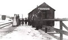 Kannanakis train station  - Alberta, Canada - Bing images  - Vernacular Mobile style architecture