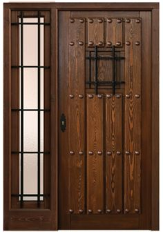 Spanish style wooden gates spanish door puerta santos for Puertas rusticas exterior