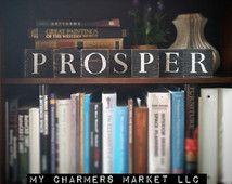 Prosper Sign, Prosper, Prosper Tile Letters, Prosper Wall Decor, Wooden Letter Blocks, Wood Letter Tiles, Shabby Chic Sign Set, Gift Idea