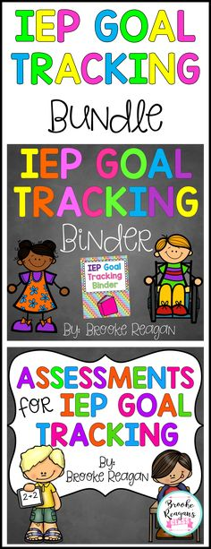 Two of my best selling products for a bundle price! IEP Goal Tracking Binder and IEP Goal Tracking Assessments. Get super organized with these must have products for any special education teacher!
