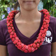 Rose Rope Lei  Kui & I Florist, LLC Hilo, Hawaii kuiandiflorist.com #kuiandi #hawaiianlei