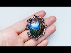 ▶ ♦ Watch me craft: Polymer clay tree landscape cameo charm - YouTube