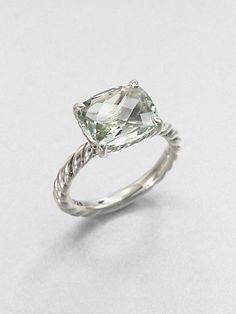 David Yurman - Prasiolite and Sterling Silver Ring - Saks.com