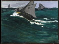 The Green Wave, Claude Monet (French, Paris 1840–1926 Giverny), Oil on canvas