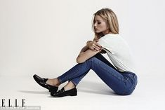 Down-to-earth: Olivia wore a range of outfits for the photoshoot which took place while he...