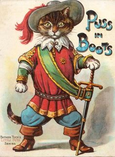 Puss in Boots...vintage card.