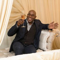 Thanks Ainsley Harriott for such a fantastic party last night. You deserve to put your feet up. Can't wait for the next one! Luxury Furniture, Furniture Design, Ainsley Harriott, Caviar, Showroom, Product Launch, Design Inspiration, Glamour, Blazer