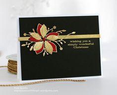 Memory Box Poinsettia Ribbon