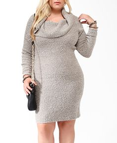Boucle Cowl Sweater Dress | FOREVER 21 - 2017307200