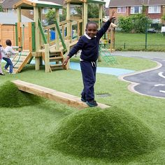 Our Lunar Mound & Moonbeam is a fun way for young children to test their balancing skills and a popular addition to nursery playground equipment