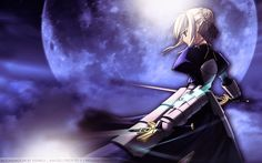 Wallpaper of Saber for fans of Fate Stay Night.