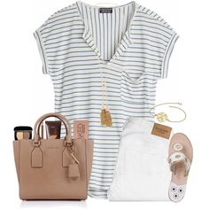 A fashion look from April 2016 featuring Abercrombie & Fitch jeans, Jack Rogers sandals and Michael Kors handbags. Browse and shop related looks.