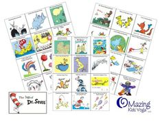yoga of seuss. Printables available to do yoga with Kids inspired by Dr Seuss books