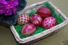 Decorated Easter eggs.