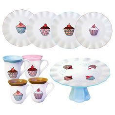 I pinned this 9 Piece Mae Cupcakes Dessert Set in Multi from the Bake Sale event at Joss and Main!