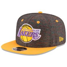 Men s Los Angeles Lakers New Era Black Gold Hardwood Classics Vivid Crowner  9FIFTY Adjustable Snapback 2b0017c43a4