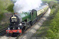 Great Western Railway King Class 4-6-0 steam locomotive. King Edward 1