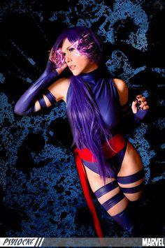 Marvel Comics: X-Men. Character: Psylocke. Cosplayer: Lucy Lemoine 'aka´Lady Lemon 'aka' Lilia Lemoine. From: Argentina. Event: After Friends 2012. Photo: Fernando Brischetto.