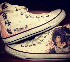 Hakuouki High-top Painted Canvas Shoes,High-top Painted Canvas Shoes