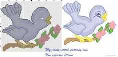 http://www.my-cross-stitch-patterns.com/sparrow_on_flowering_branch_easter.html #needlepoint