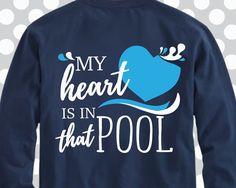 2c3dfd5f My heart is in that pool svg, swim svg, Swimming SVG, Swimmer, Swim, svgs  file file, swimming ideas, Swim Team Tee, Swim shirt