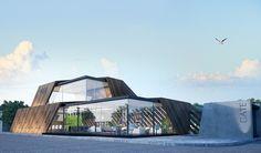 WMF Office on Behance - kayra Interior Architecture Drawing, Architecture Panel, Sacred Architecture, Cultural Architecture, Education Architecture, Architecture Office, Residential Architecture, Architecture Design, Villa Design