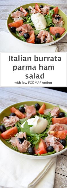 A simple Italian salad with great ingredients. With a low FODMAP option