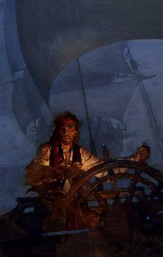 Muddy Colors: David Grove, Hall of Fame Illustrator Pirate Art, Pirate Life, Pirate Ships, Pirate Crafts, Fuchs Illustration, Monkey Island, Black Sails, Wow Art, Treasure Island