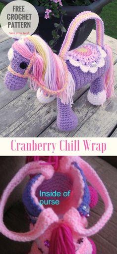 Horse Crochet Purse [Bag and Toy] - #crochet #freepattern
