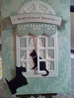 Window Ledge, Anna Griffin Cards, Window Cards, Hearth And Home, Cat Cards, Rubber Stamping, Card Kit, Easel, Homemade Cards