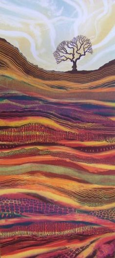 Who is this artist? I love the work! Landscape Art Quilts, Landscapes, Art Brut, Art For Art Sake, Aboriginal Art, Felt Art, Art Plastique, Tree Art, Fabric Art