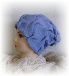 Двойная шапка спицами узором клоке   Вязание с Людмилой Тен   Яндекс Дзен