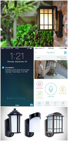 KUNA is a smart Wi-Fi security camera and video intercom, built into an elegant outdoor light.