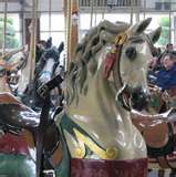 This antique German carousel was open to the public for rides in Logansport, Indiana. We loved taking Amanda there.  You could still catch a brass ring on this ride.