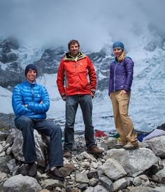 The South Col team. (Pictured: Leif Whittaker, Dave Hahn and Melissa Arnot.) #Everest