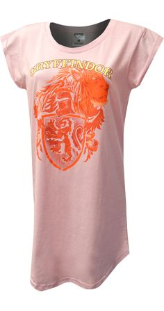 This is one fun Harry Potter nightshirt for plus size ladies ladies! Made of a soft cotton blend fabric, you will not want to sleep in anything else. The design features the Gryffindor House Mascot, on a pretty pastel pink background. Pretty Pastel, Pastel Pink, Lounge Pants, Lounge Wear, Night Shirts For Women, Best Pajamas, Harry Potter, Plus Size, Lady