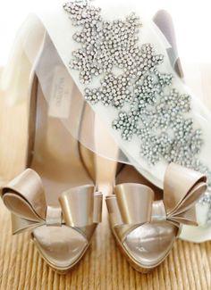 Wedding shoes idea; Featured Photographer: Erin Hearts Court