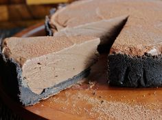 No Bake Chocolate Cheesecake. Amazing. Make it on a hot summers day when you…