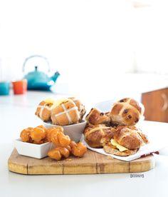 Scrumptious Koeksisters & Hot Cross Buns by Deeghuys Hot Cross Buns, Home Baking, Waffles, Breakfast, Food, Morning Coffee, Essen, Waffle, Meals