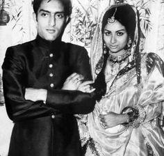 Mansoor Ali Khan Pataudi here at his marriage to Bollywood actress SharmilaTagore - ♥ Rhea Khan
