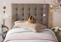 Safavieh's LAMAR TAUPE TUFTED HEADBOARD Item: MCR4020A Color: TAUPE