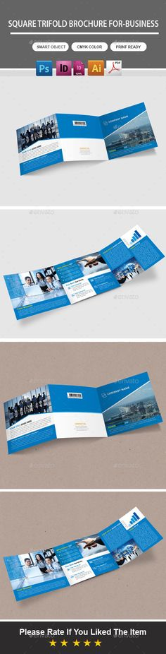 Square Trifold Brochure For-Business
