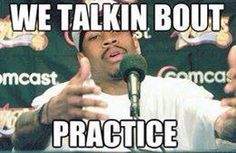 """Allen Iverson: """"We talkin bout PRACTICE"""". Still probably the most hilarious athlete quote ever"""