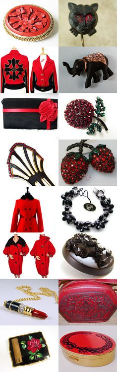 When Red Meets Black Voguet Vogueteam by Gena Lightle on Etsy--Pinned with TreasuryPin.com