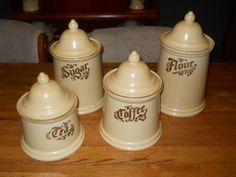 Selling Pfaltzgraff Village Canister Set - Complete with Lids - 8 pcs - $50 (columbia) #pinbayus #southcarolina #selling #used